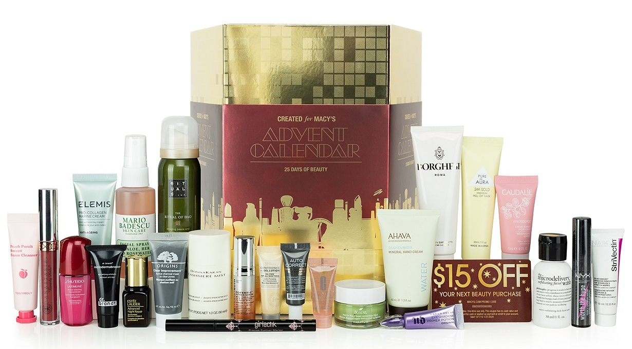 Macy's beauty advent calendar 2019