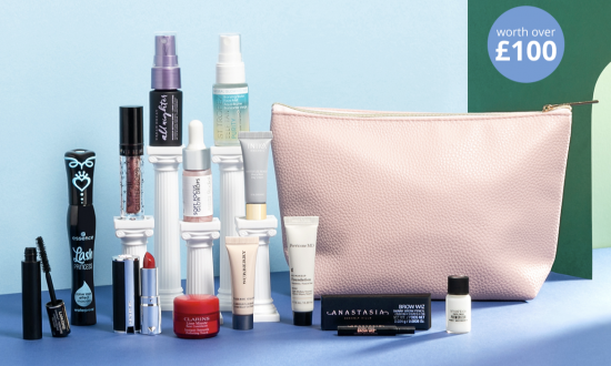 Feel Unique GWP Beauty Bag Worth Over £100!