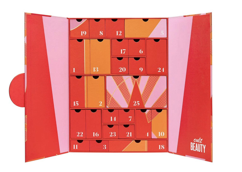 Cult Beauty advent calendar 2020 inside