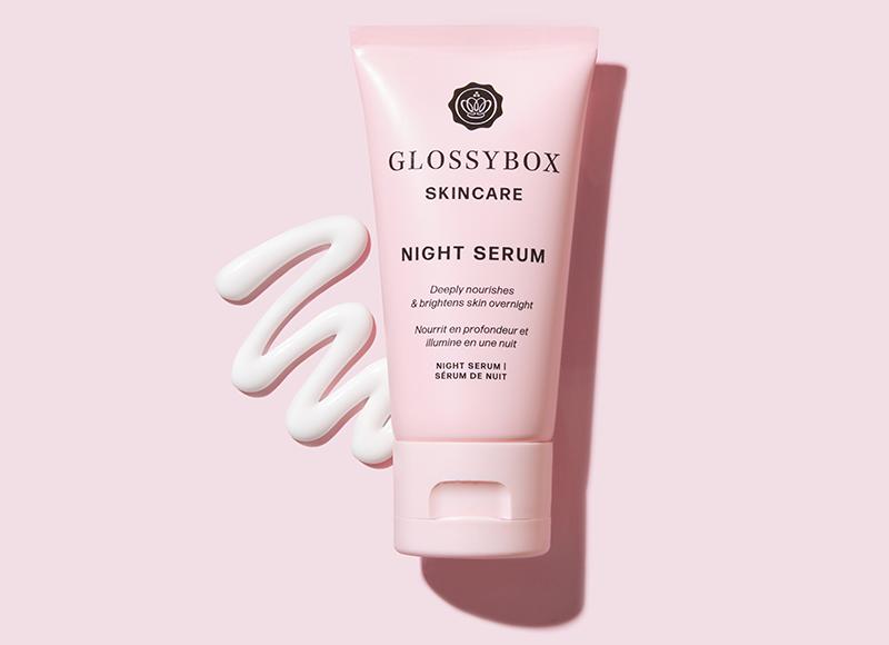 Glossybox skincare night serum