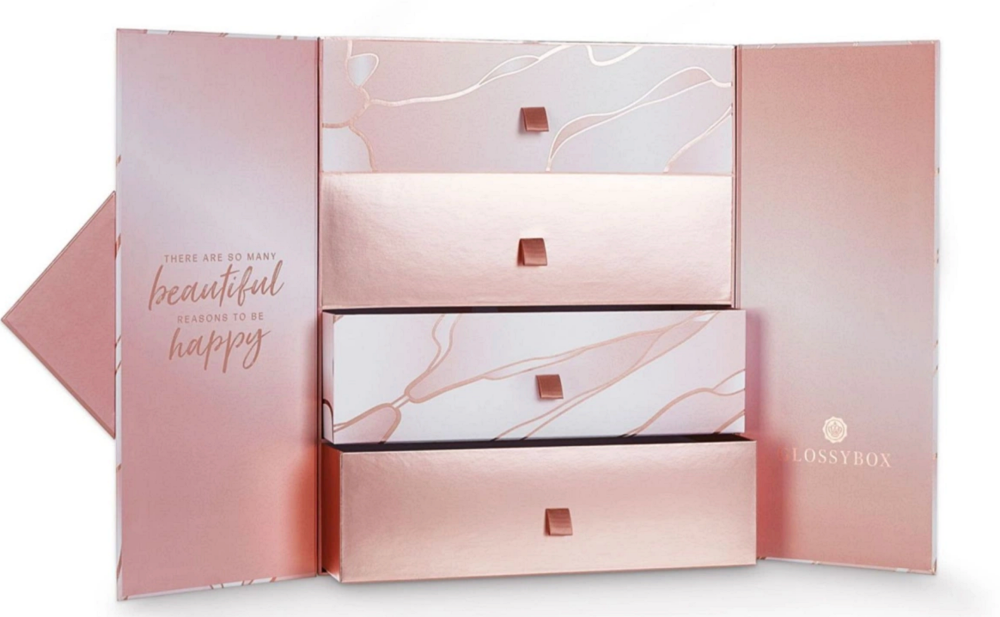 Glossybox Advent Calendar 2020 inside