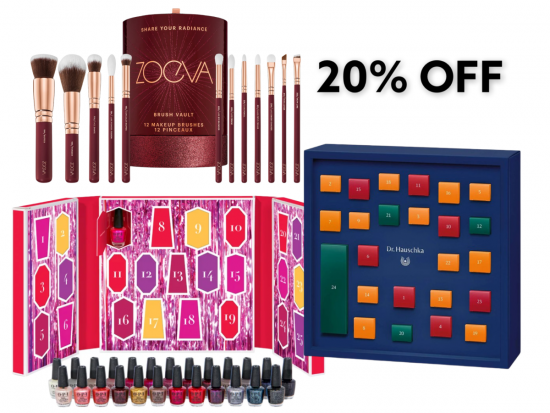 20% Off OPI, Dr Hauschka & Zoeva Advent Calendars!