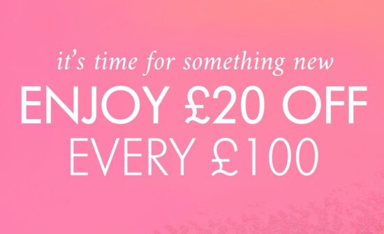 Space NK £20 off every £100 Spent!