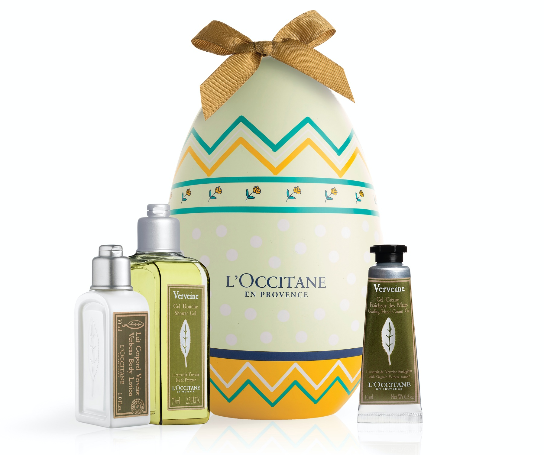 L'OCCITANE Verbena Easter Egg with products