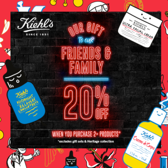 20% Off Everything At Kiehl's