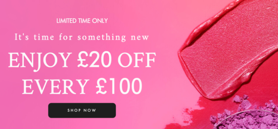 Space NK Discount Weekend –  £20 off every £100