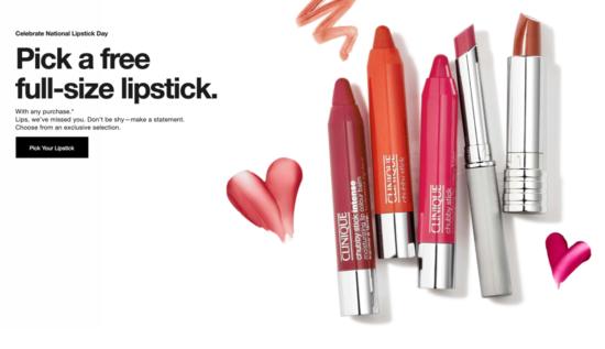 Clinique FREE Full Size Lipstick