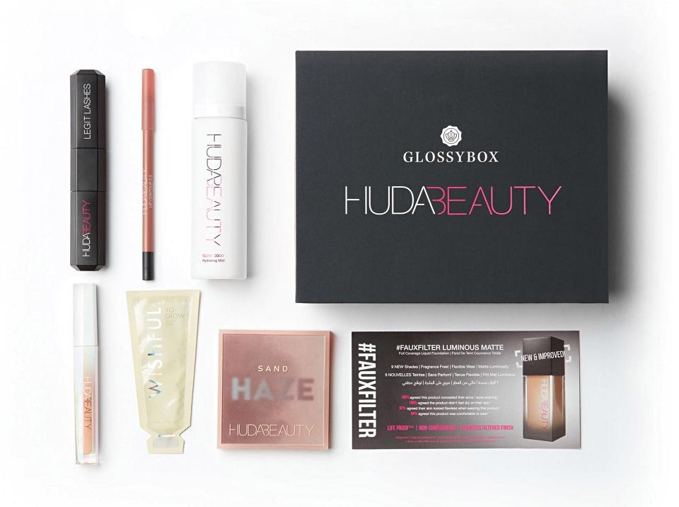 Huda Beauty x Glossybox July 2021