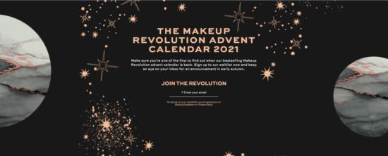 Makeup Revolution Advent Calendar 2021 – Join The Waitlist