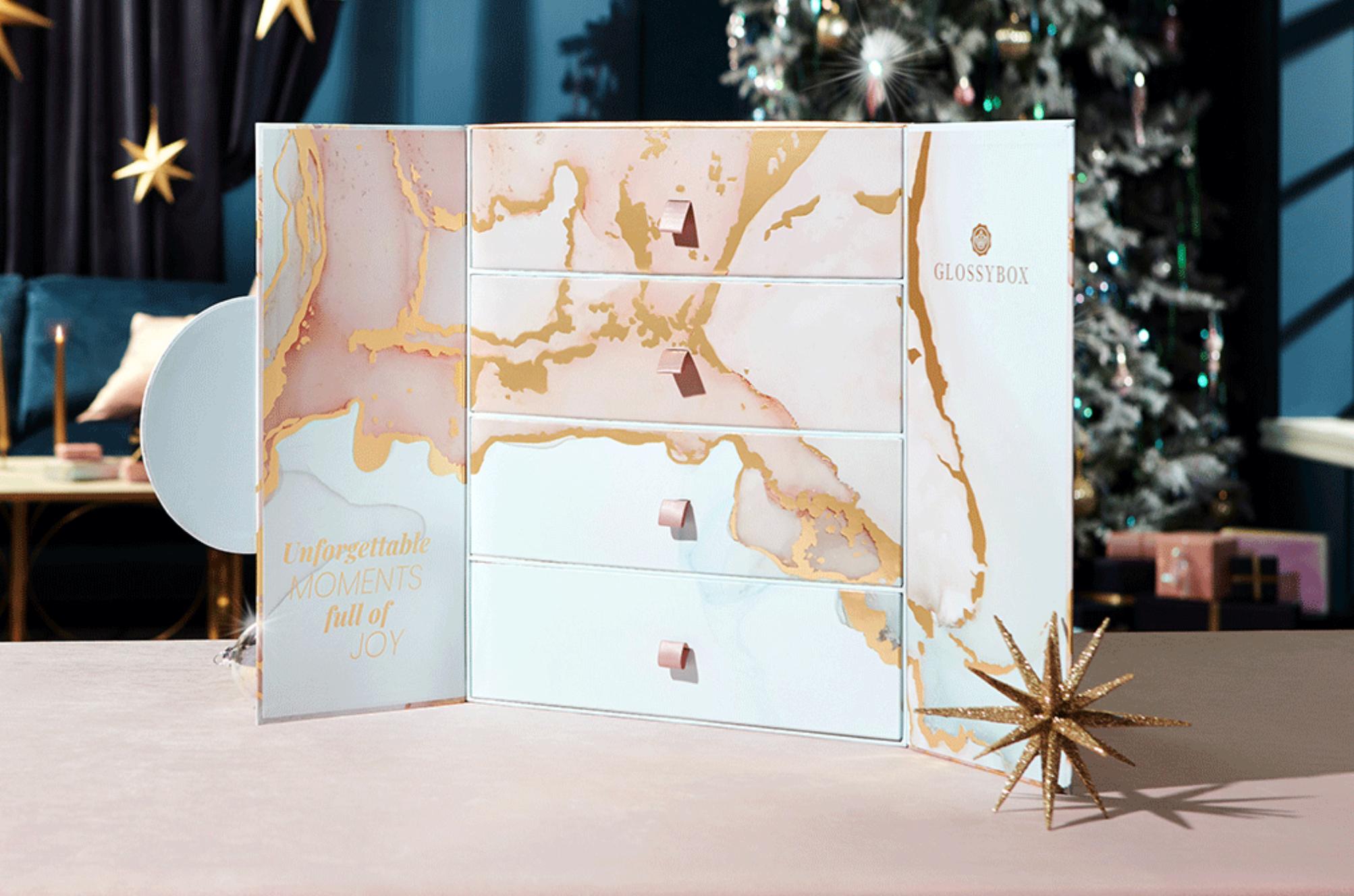 Glossybox beauty advent calendar 2021 inside