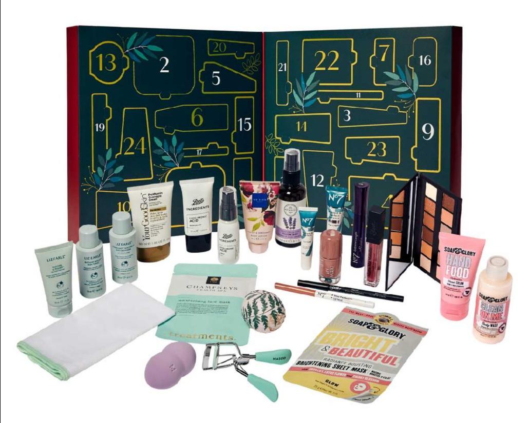 Macmillan 24 Beauty Treasures Advent Contents 2021