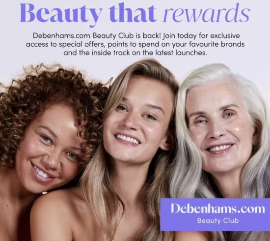 Debenhams Beauty Club Relaunch – Join & Get £20 To Spend