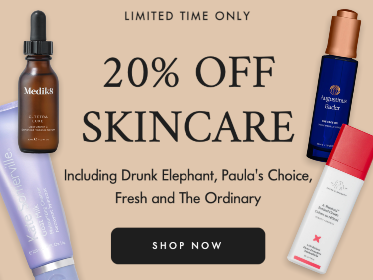 Space NK 20% Off Skincare